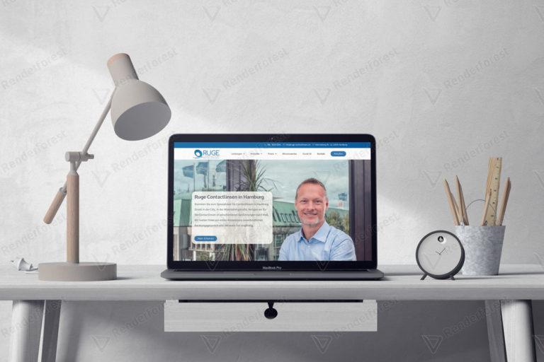 Optiker Webseite Design